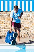 Pool vacuum robot