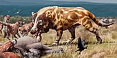 Andrewsrchus prehistoric mammal, illustration