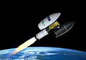 Launch of the Sentinel-2B satellite, illustration