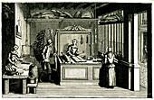 18th Century bakery, 19th C illustration