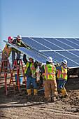 Solar power facility construction