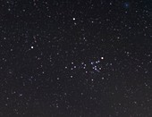 Coma Berenices constellation, optical image