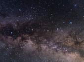 Serpens Cauda constellation, optical image
