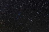 Triangulum constellation, optical image