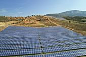 Photovoltaic solar array, Greece