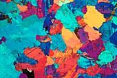 Granite, polarised light micrograph