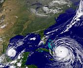 Hurricanes Irma and Katia, satellite image