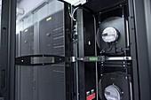 Data centre cooling fans
