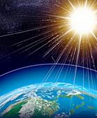 Sun and Earth, illustration
