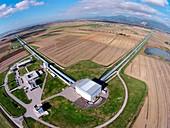 Virgo detector, aerial photograph