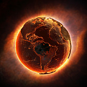 Planet earth in global disaster