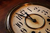 Clock face, close up