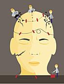 Conceptual illustration of migraine