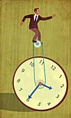 Conceptual illustration of time management