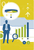 Illustration of business forecast and development