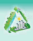 Illustration of environmental issues