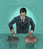 Illustration of hedging funds