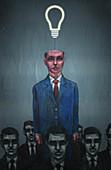 Illustration of individuality