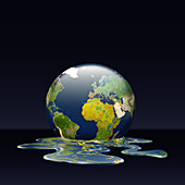 Illustration of melting earth