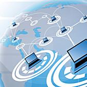 Illustration of network globalization