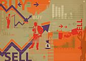 Illustration of online share trading
