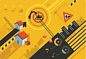 Illustration of real estate construction