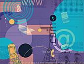 Illustration of telecommunications