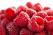 Raspberries, close up