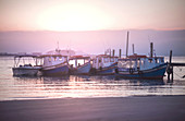 Fishing boats, Ilha Do Mel, Parana, Brazil