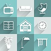 Household items, illustration