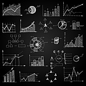 Graphs and charts, illustration