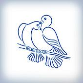 Pigeons, illustration