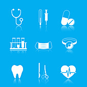 Medical icons, illustration