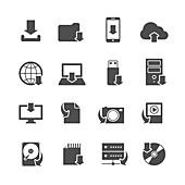 Website icons, illustration