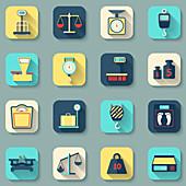Measurement icons, illustration