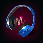 Headphones, illustration