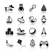 Toy icons, illustration