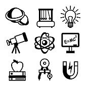 Physics icons, illustration