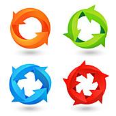 Circular arrows, illustration