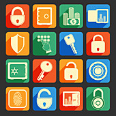 Security icons, illustration