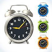 Alarm clocks, illustration
