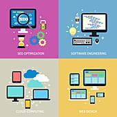 E-commerce, illustration