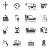 Logistics icons, illustration
