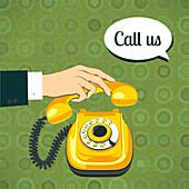 Phone call, illustration