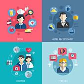 Careers, illustration