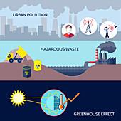 Pollution, illustration