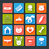 Pet icons, illustration