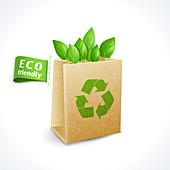Green packaging, illustration