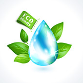 Water conservation, illustration