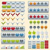 Rating icons, illustration